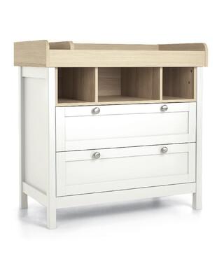 خزانة أدراج/ طاولة تغيير هارويل - أبيض وبني