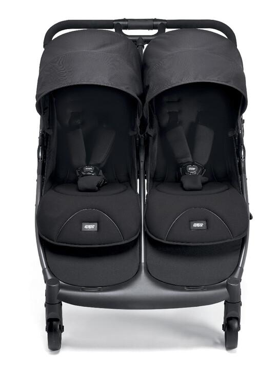 عربة أطفال أرماديللو مزدوجة قابلة للطيّ - لون أسود image number 2