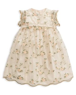 فستان مطرز بزهور