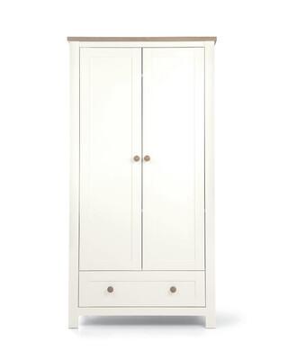 خزانة ملابس كيسويك لغرفة الأطفال - أبيض وبني