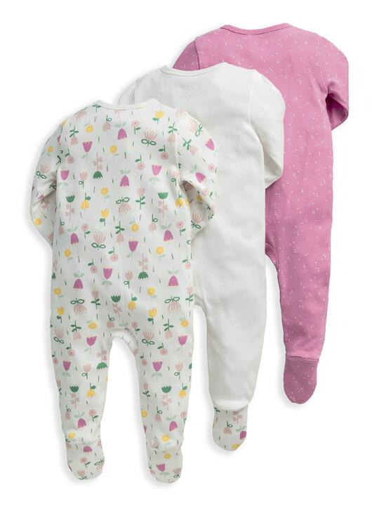Modern Floral Sleepsuits 3 Pack image number 2