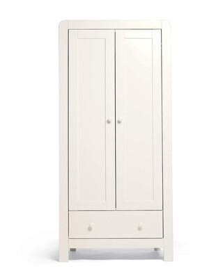 خزانة ملابس دوفر لغرفة الأطفال ببابين - أبيض