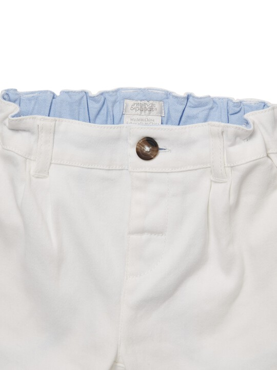 White Chino Shorts image number 3