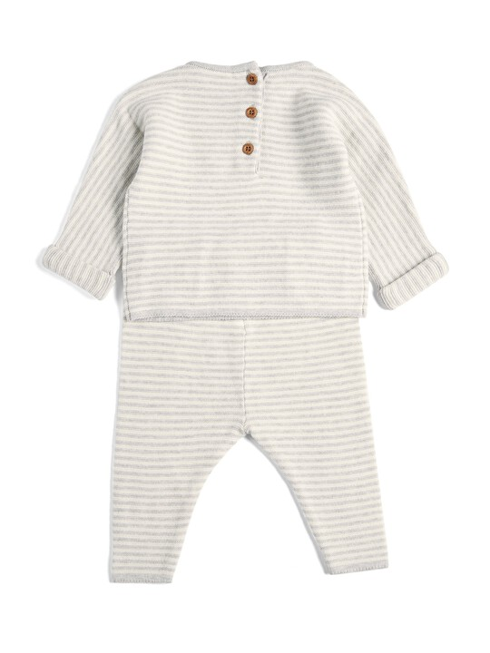Striped Knitted Set - 2 Piece image number 2