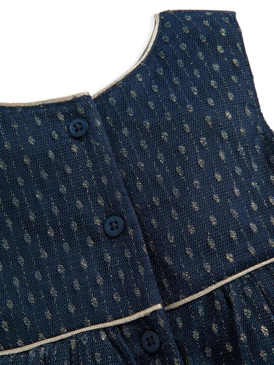 فستان من قماش دوبي شبكي image number 3