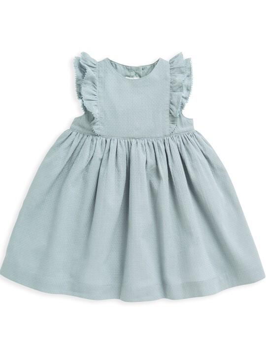فستان منسوج بكشكش image number 1