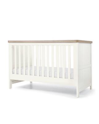 مهد كيسويك للأطفال الرضع - أبيض وبني