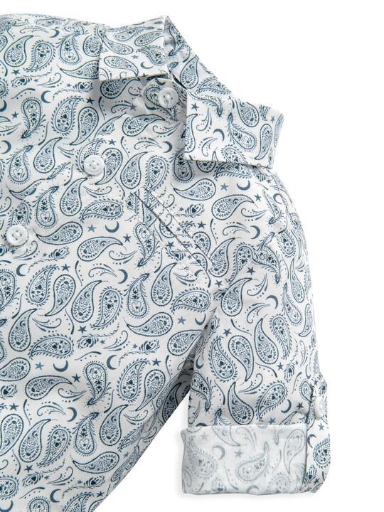 قميص بنقشة بيزلي متناثرة image number 6