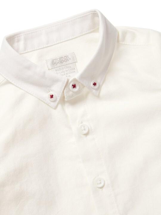 قميص أكسفورد أبيض image number 3
