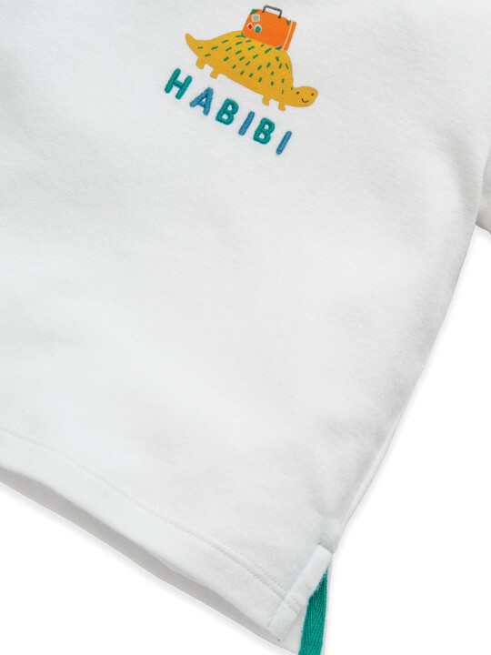 تي شيرت بطبعة سلحفاة وكلمة Habibi image number 3