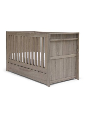مهد فرانكلين 3 في 1 يتحول إلى سرير أطفال بسن المشي - رمادي