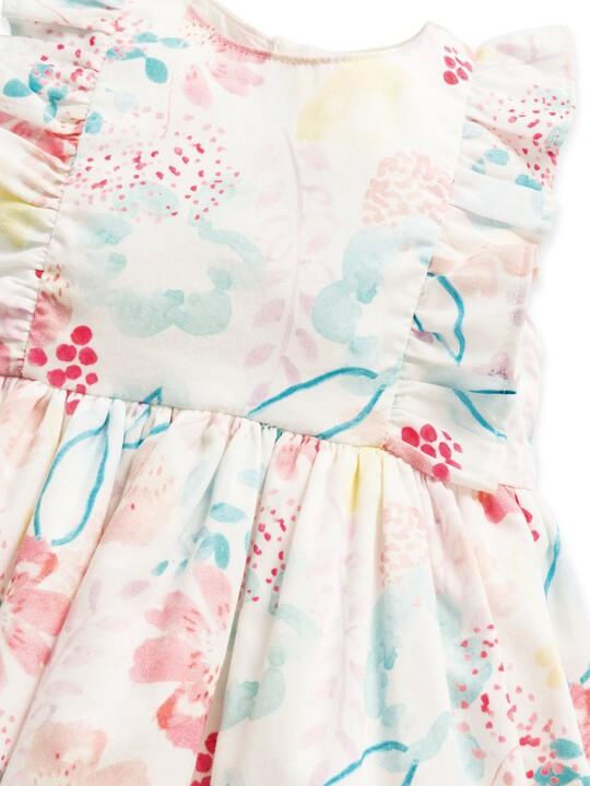 فستان بنقشة ألوان مائية image number 4