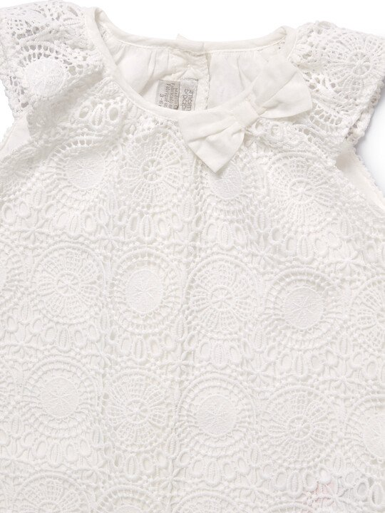 White Lace Romper image number 4