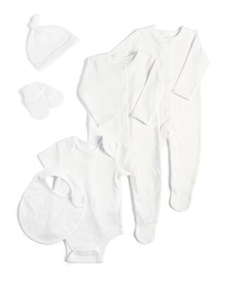 طقم باللون الأبيض - 6 قطع