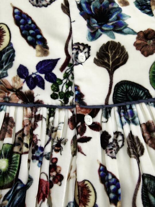 فستان بطبعة ليبرتي مخملي image number 3