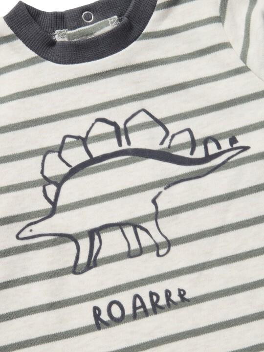 تي شيرت مخطط بطبعة ديناصور image number 3