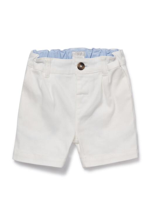 White Chino Shorts image number 1