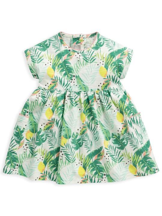 فستان جيرسيه بنقشة استوائية image number 1