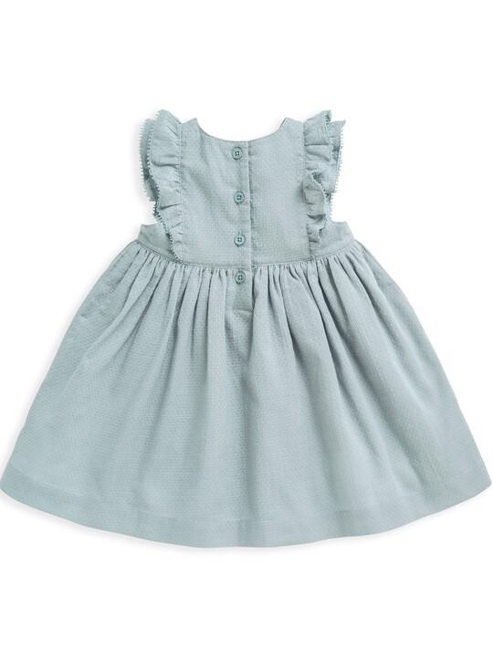 فستان منسوج بكشكش image number 2