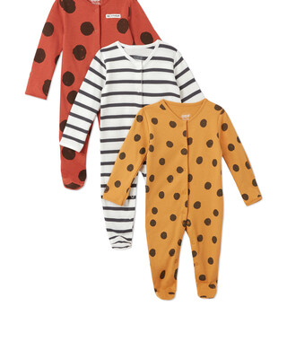 3Pack of  LARGE SPOT Sleepsuits