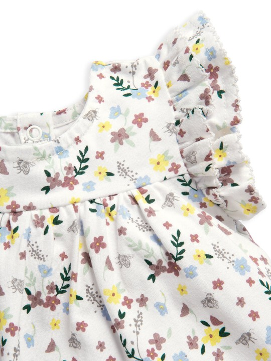 فستان جيرسيه بنقشة زهور image number 3