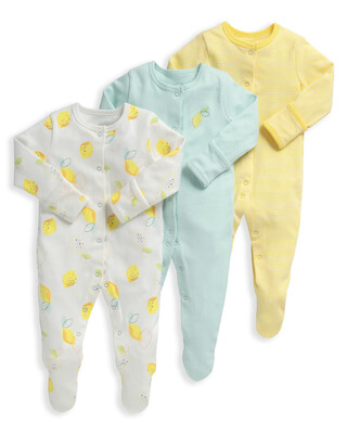 Lemon Sleepsuits 3 Pack