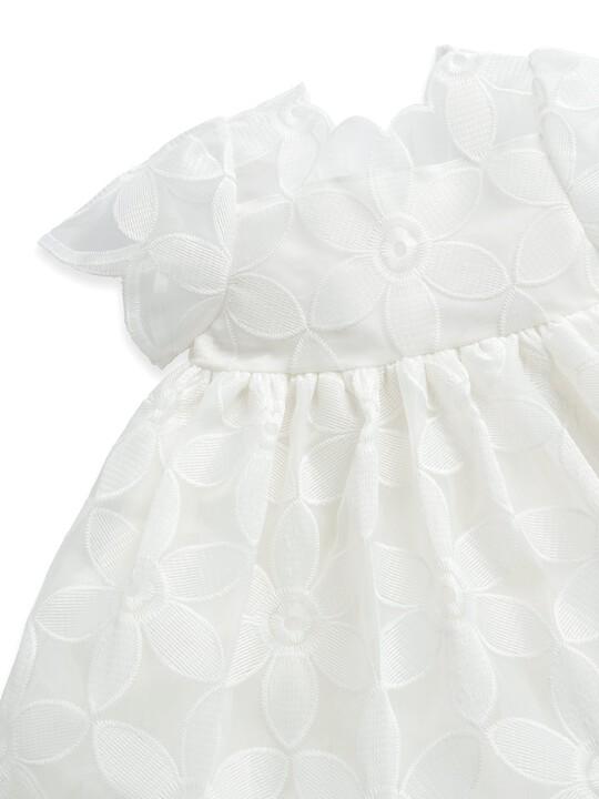 فستان أورجانزا مطرز image number 3