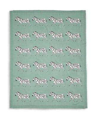 بطانية صغيرة منسوجة - نقشة زيبرا