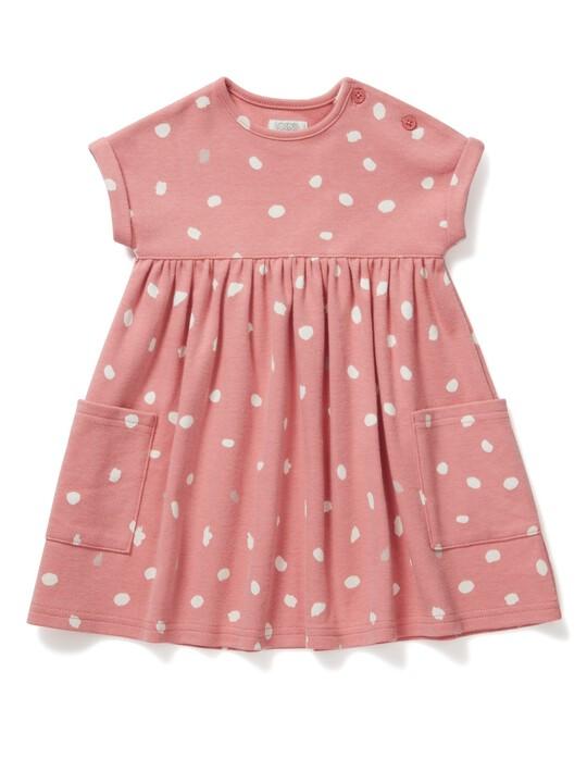 فستان جيرسيه بطبعة منقطة image number 1