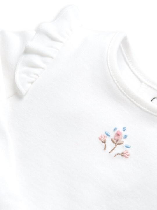 طقم لباس قطعة واحدة ولغينغز بنقشة زهور - قطعتان image number 5