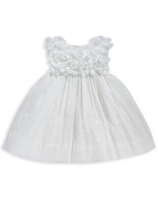 فستان مزين بزهور على الصدر