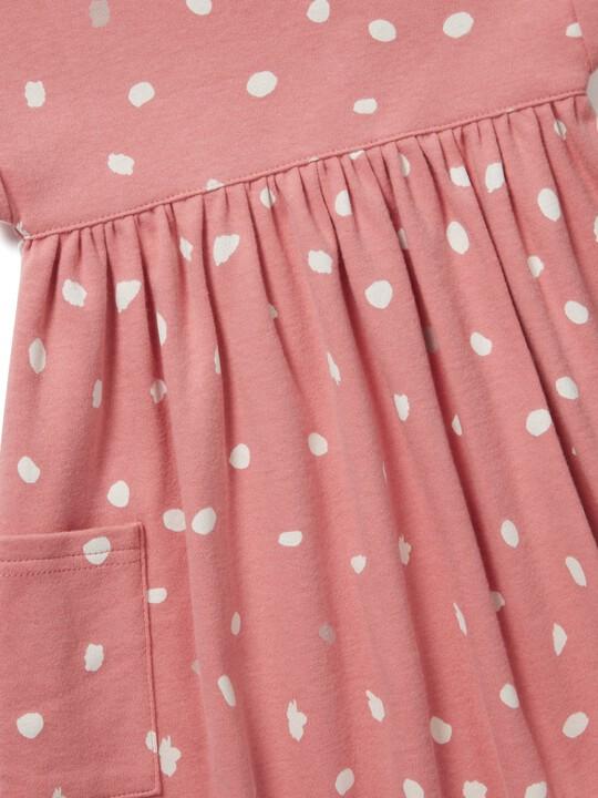 فستان جيرسيه بطبعة منقطة image number 3