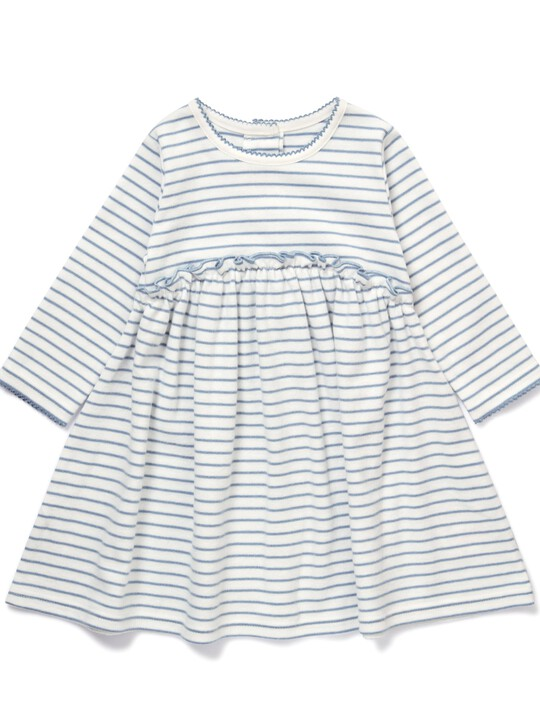 فستان جيرسيه مخطط image number 1