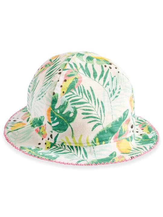 قبعة بوجهين مزينة بنقشة استوائية image number 1
