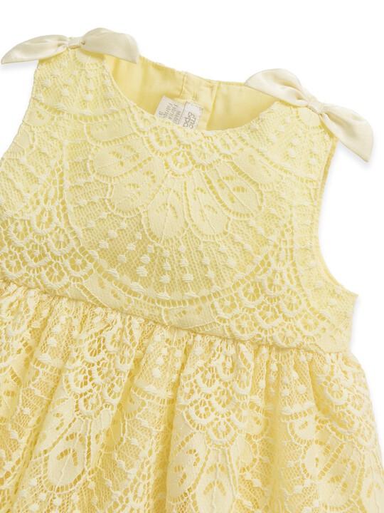 فستان دانتيل أصفر image number 3