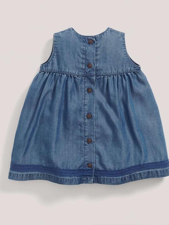 فستان بطيات دقيقة - أزرق image number 2