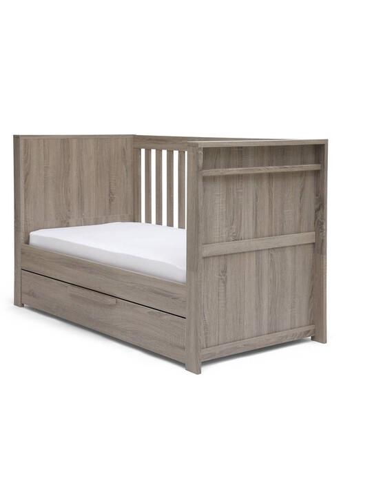 مهد فرانكلين 3 في 1 يتحول إلى سرير أطفال بسن المشي - رمادي image number 3