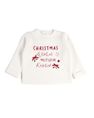 سترة بتطريز عبارة Christmas Wishes