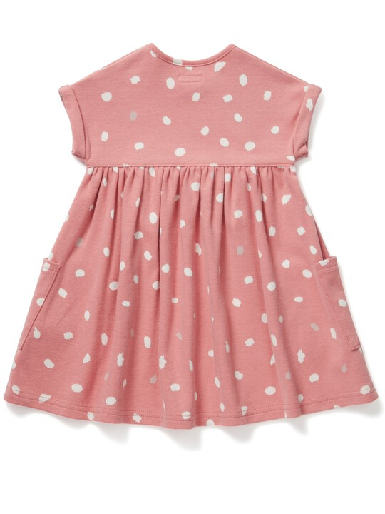 فستان جيرسيه بطبعة منقطة image number 2