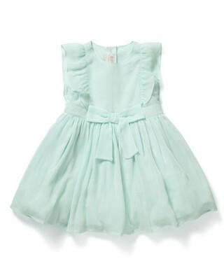 فستان بتصميم مجعد أزرق