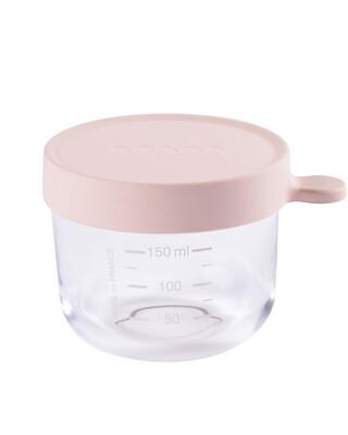 Beaba Conservation Jar Glass 150ml Pink