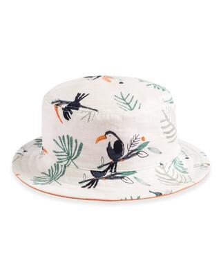 قبعة بوجهين مزينة بنقشة طائر الطوقان