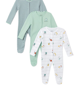 3Pack of  FRUIT SLEEPSUITS