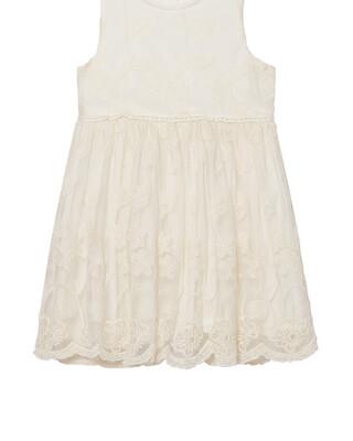 فستان دانتيل - كريمي