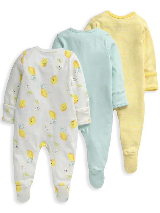 Lemon Sleepsuits 3 Pack image number 2