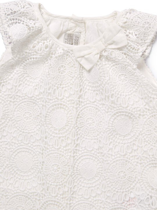 White Lace Romper image number 3