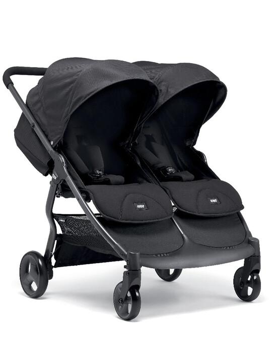 عربة أطفال أرماديللو مزدوجة قابلة للطيّ - لون أسود image number 1
