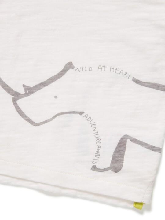 تي شيرت بطبعة وحيد القرن image number 3