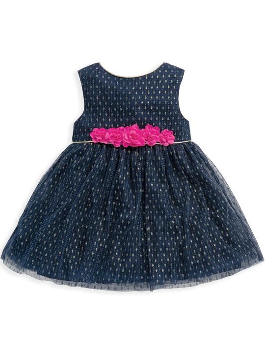 فستان من قماش دوبي شبكي image number 1