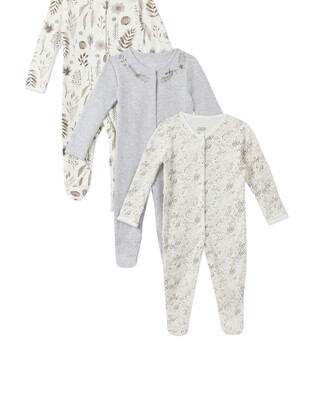 3Pack of  MONO FLWR Sleepsuits